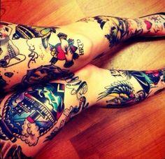 Female Tattoo legs