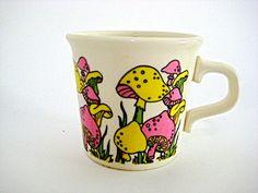 70s Mushroom Coffee Mug @KingOVintage