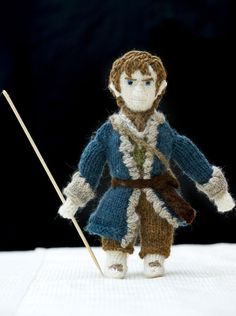 Hobbit knitted characters: Denise Salway takes up to a month to create Lord of the Rings figures
