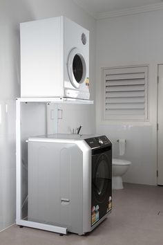 Dryer Stand (For Top or Front Loader Washing Machines) Washer Dryer Shelf, Washer And Dryer Stand, Washing Machine Stand, Compact Washing Machine, Laundry Dryer, Laundry Room, Clothes Dryer Stand, Workshop, Garage