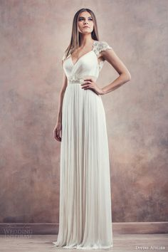 Divine Atelier 2014 #bridal collection: Helena cap sleeve #wedding dress