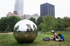 """Alicia Framis's """"Cartas al Cielo.""""Review: 'Please Touch the Art' and 'Drifting in Daylight,' Outdoor Art at the Parks - NYTimes.com"""