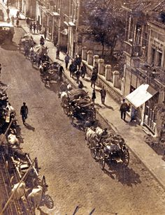 Η εγκατάλειψη της Ανατολικής Θράκης το 1922.: Αποχώρηση με κάρα.Αρχές Οκτωβρίου 1922.