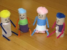 How to make Little Paper Roll People - Great for imaginative play!