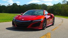 Consumer Reports reviews the 2017 Acura NSX Hybrid supercar, a mid-engine sports car resurrected with all-wheel drive, twin turbos, three electric motors, and unflappable handling.