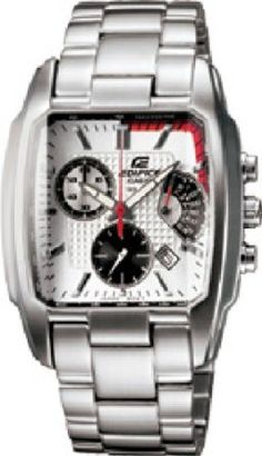 Casio Edifice Mens Stainless Steel Square Watch EF-519D-7AVDF
