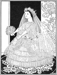 Dressed as Bride - Hitty by Rachel Field. Published by Macmillan Co ~ 1929