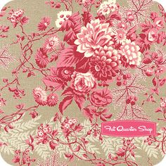 True Vintage Light Gray and Pink Floral and Wheat Stripe Yardage True Vintage by Robyn Pandolph for RJR Fabrics Price:$10.75per yard