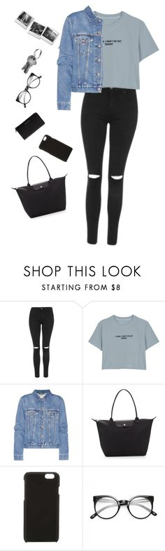 """Untitled #57"" by victoriajassan ❤ liked on Polyvore featuring Topshop, WithChic, Acne Studios, Longchamp, Calvin Klein and Givenchy"