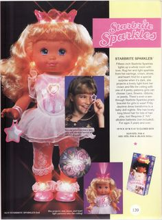 Starbright Sparkles doll. Her crown lit up and projected shapes on the ceiling!