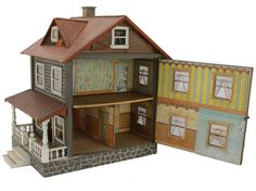 Two-Story Schoenhut Dolls' House : Lot 27, nice house, good design and colors.  .....Rick Maccione-Dollhouse Builder www.dollhousemansions.com