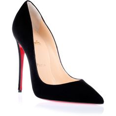 Christian Louboutin So Kate 120 Black Suede Pump ($645) via Polyvore