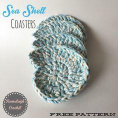 Sea Shell Coasters {FREE PATTERN}