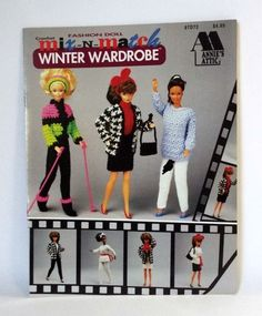 Mix N Match Fashion Doll Clothes Crochet Pattern Book 11.5 in Annies Winter 1993 #AnniesAttic