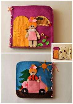 Dollhouse Quiet Book/ Felt Quiet Book/ Busy Book/ Handmade/ Travel Toy