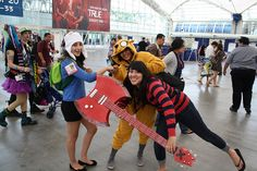 Adventure Time Cosplay | Adventure Time Cosplay - Marceline, Finn, and Jake | Flickr - Photo ...