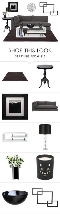"""""""Living Room Decor"""" by courtney-paige-mcintosh ❤ liked on Polyvore featuring interior, interiors, interior design, home, home decor, interior decorating, ESPRIT, Eleanor Long, CB2 and Furniture of America"""