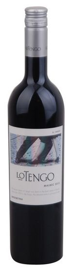 In stock - 7,71€ 2013 Lo Tengo Malbec, red dry , Argentine - 84pt Wine red with sparkly purple edge. The predominant flavor complex aromas of ripe plums and cherries by aromas of dried herbs and sweet pepper at the end. Taste is very harmonious and full of sweet tannins. Very pleasant to drink every day.