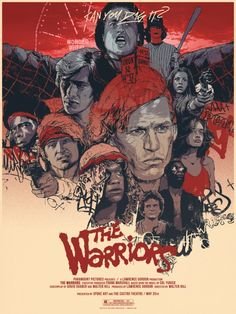 The Warriors 1979 (by Grzegorz Domaradzki) Best Movie Posters, Cinema Posters, Movie Poster Art, 80s Posters, Action Movie Poster, Movies And Series, Cult Movies, Tv Series, Popular Movies
