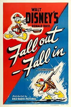 WWII propaganda ~ Disney made a large quantity of war support propaganda. The biggest one was a movie depicting the war effort. Disney Movie Posters, Classic Movie Posters, Disney Films, Disney Cartoons, Cartoon Characters, Disney Duck, Disney Love, Disney Art, Walt Disney
