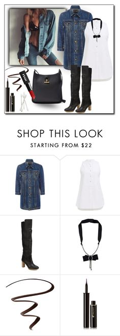 """contest entry denim jakets2"" by art-gives-me-life ❤ liked on Polyvore featuring R13, Maiyet, Lanvin, Stila, Lancôme, Bobbi Brown Cosmetics, denimjackets and WardrobeStaples"