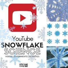 Learn about snowflakes or ice crystals with our choices for snowflake science youTube videos for kids! We also have snowflake science activities to try.