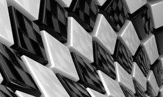 White tiles wallpaper mural designed by mr perswall/niclas 1920 × 1080 tile 3d Cube Wallpaper, View Wallpaper, Original Wallpaper, Photo Wallpaper, Black And White Posters, Black And White Background, Black And White Abstract, Black White, Color Black
