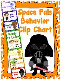 Space Pals Behavior Clip Chart - Behavior Management, $