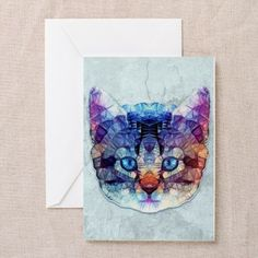 abstract kitten Greeting Cards on CafePress.com