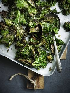 Sesame-roasted kale A good idea this,.as Kale is an excellent vegetable for health, but too chewy if steamed