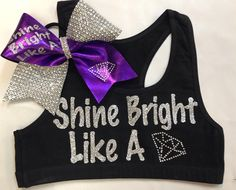 Sports bra with or without matching bow.  Customizable colors and sayings!