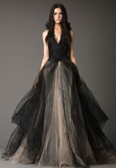 Shenae Grimes recently wore this black Vera Wang(2012) Gown for her wedding and looked amazing!