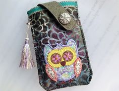 Samsung Galaxy Note 3 / 2 - Patchworks Owl Pouch from Lily's Handmade - Desire 2 Handmade Gifts, Bags, Charms, Pouches, Cases, Purses by DaWanda.com