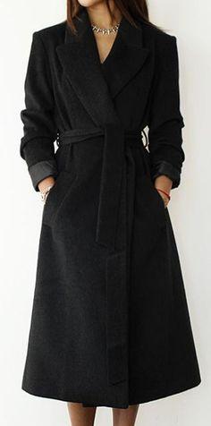 Classic | Black Midi Coat.  dresslily.com