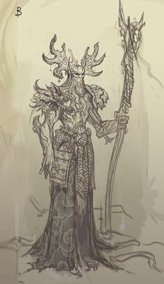 Nature Guardian sketches for the game Spellsouls. Fantasy Warrior, Character Design, Creatures, Sketches, Artwork, Nature, Characters, Thoughts, Drawing Ideas