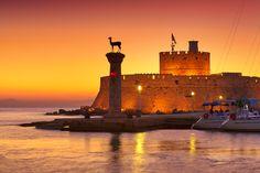 VISIT GREECE| Mandraki harbor #Rhodes #visitgreece #greece