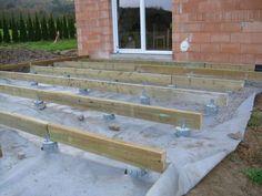 Holzterrassenprojekt von familie k aus potsdam pinterest unterkonstruktion g rten und terassen - Duschschnecke bauen ...