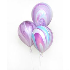 Pink, purple and aqua Balloons for a sweet unicorn birthday party and marble balloons