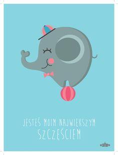 Plakat słonik niebieski 08 Posterville