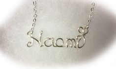 Naomi necklace  My name necklace is wedding or birthday,Christmas gift for bridesmaids or your best person!  You can choose from sterling silver or silver plated and gold wire. The First letter size is under1cmx1cm  **************CHAIN LENGTH ************  *** 2-6yrs chain:14inch ***7-12yrs chain:15-16inch ***Over 13yrs chain:18inch will be good.  How to order: 1. choose quantity 2.material(choose from right side of the necklace picture) 3.chain length You can choose your chain length from…