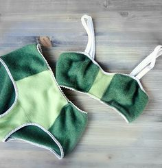 Cashmere bra and panty set in green #cashmere-lingerie #custom-made-lingerie #econica #green-cashmere-lingerie #made-in-canada #organic-bra #organic-lingerie #romantic-lingerie #sexy-lingeire #vintage-style-bralette #wool-lingerie