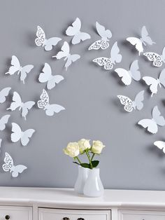 apring butterflies wall decals