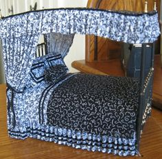 Casey's Minis: bed tutorial for dollhouse/Miniature Z