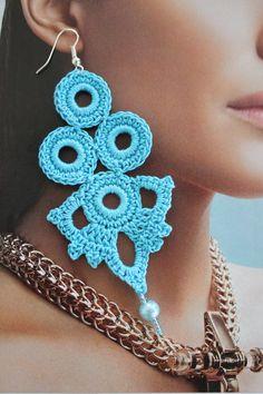 Blue earrings Earrings Blue crochet earrings Gift idea for women Long earrings Crochet statement ear Blue Earrings, Statement Earrings, Diamond Chandelier Earrings, Hoop Earrings, Crochet Gifts, Diy Crochet, Crochet Gift Ideas For Women, Unique Gifts For Women, Beautiful Crochet