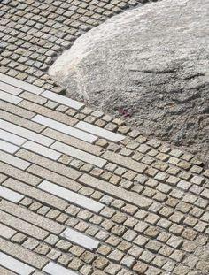 Pedra da Ra-Aussichtsplattform, Spanien / CSA arquitectura - Gu De Design Network - g_public pavements - Landscape Architecture Degree, Villa Architecture, Landscape Design Software, Architecture Diagrams, Pavement Design, Architect Jobs, Paving Pattern, Paving Ideas, Paving Design