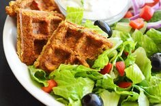 Falafel Waffles with