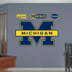 Fathead Michigan Wolverines Logo Wall Decals