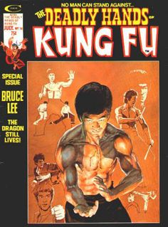 """The Deadly Hands Of Kung Fu #14: July 1975, VF, """"Bruce Lee"""" cover artwork by Neal Adams, Special Bruce Lee issue with Lee articles and photos, Bruce Lee pinup by Howard Chaykin, Master of Kung Fu, Sons of the Tiger. $30"""