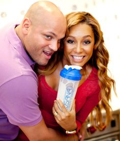 Mel B and husband Stephen Belafonte loving Usana nutrimeal shakes.    #usanahealthyliving
