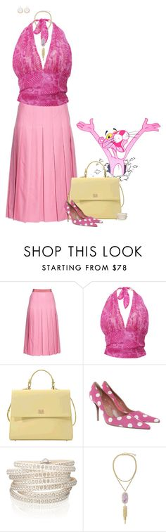 """""""The Pink Panther"""" by chileez ❤ liked on Polyvore featuring Gucci, HUGO, Walter Steiger, Sif Jakobs Jewellery, Kendra Scott and Lauren Ralph Lauren"""